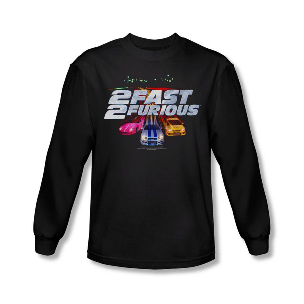 Image of 2 Fast 2 Furious - Mens Logo Long Sleeve Shirt In Black