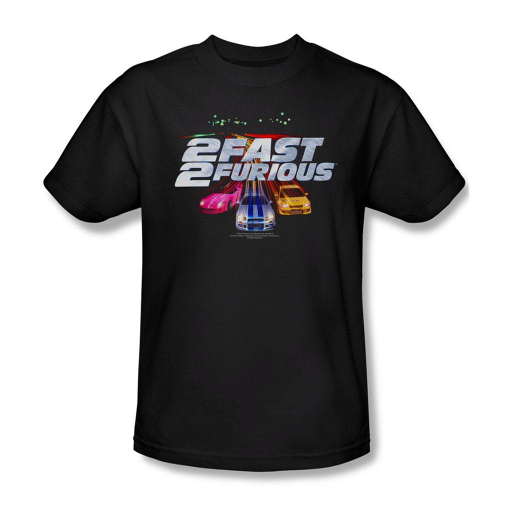 Image of 2 Fast 2 Furious - Mens Logo T-Shirt In Black