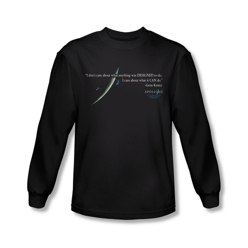 Image of Apollo 13 - Mens Gene Quote Long Sleeve Shirt In Black
