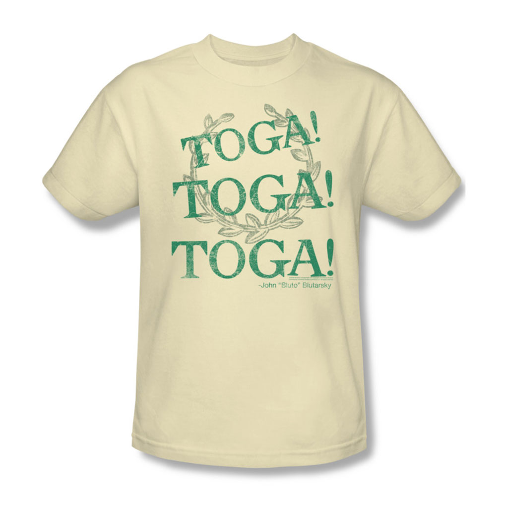 Image of Animal House - Mens Toga Time T-Shirt In Cream
