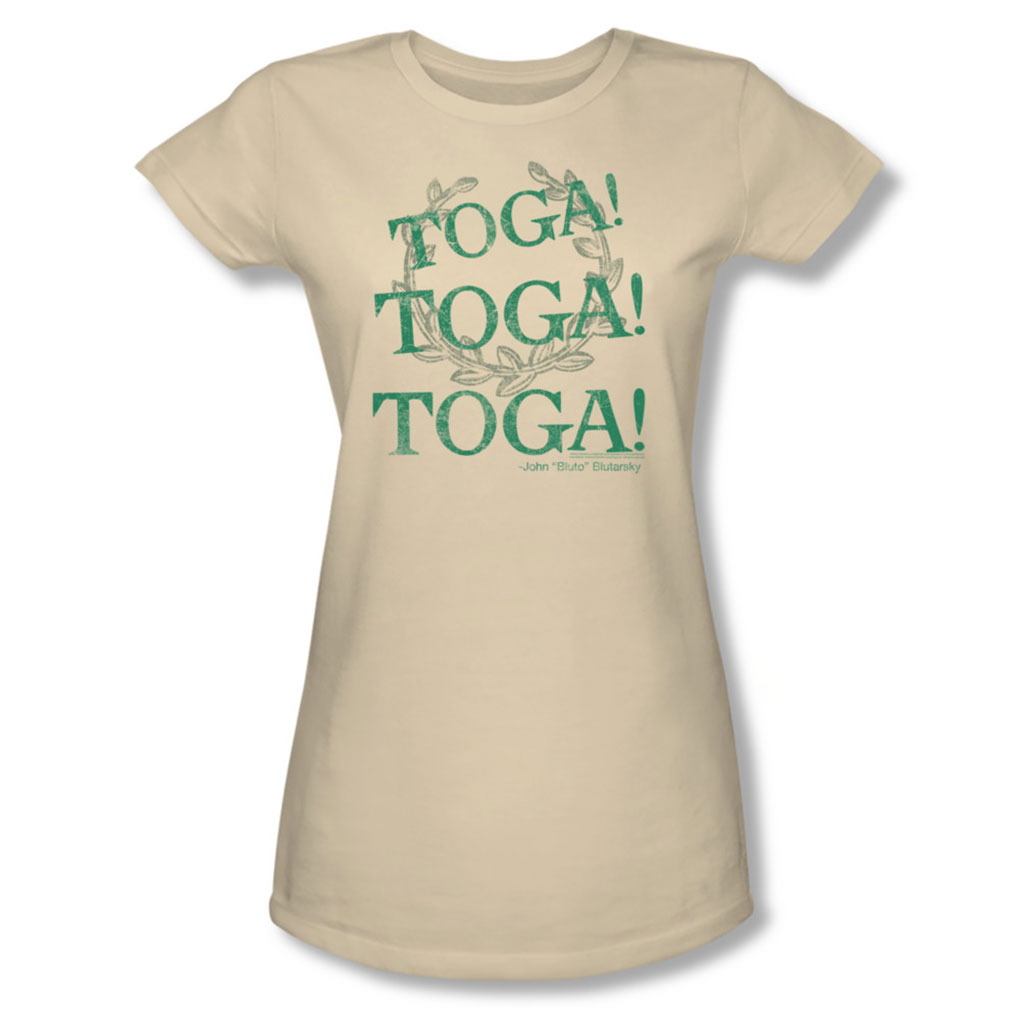 Image of Animal House - Womens Toga Time T-Shirt In Cream