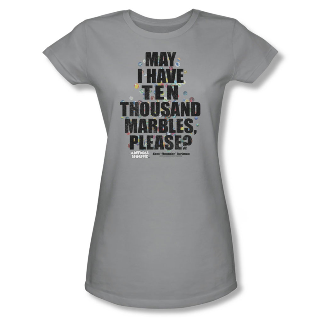 Image of Animal House - Womens Marbles T-Shirt In Silver