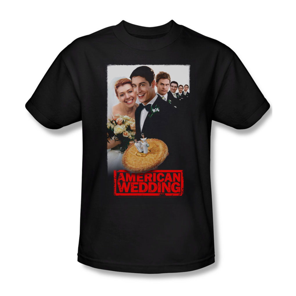 Image of American Wedding - Mens Poster T-Shirt In Black