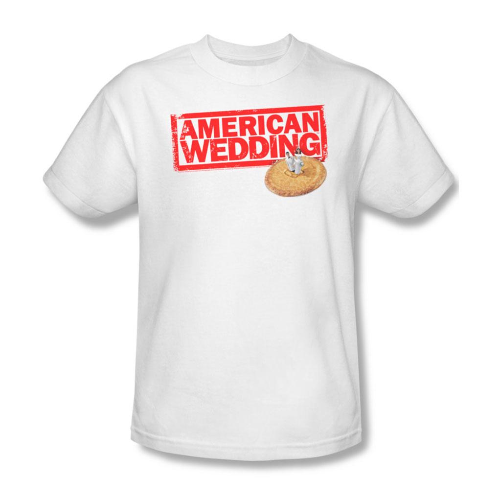 Image of American Wedding - Mens Wedding Logo T-Shirt In White