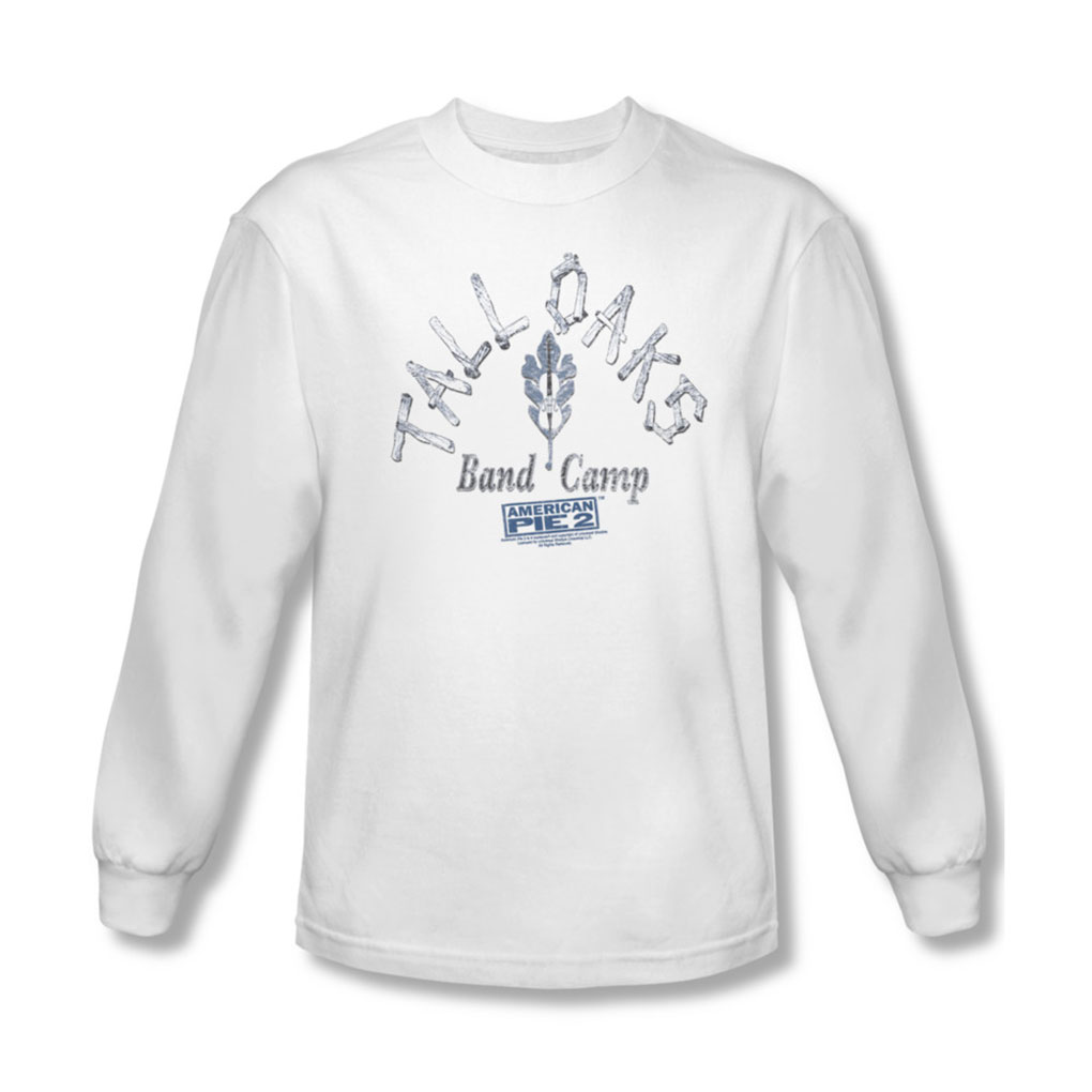 Image of American Pie 2 - Mens Band Camp Long Sleeve Shirt In White