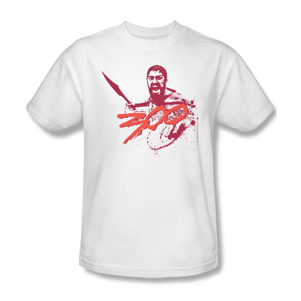 Image of 300 - Mens Logo T-Shirt In White