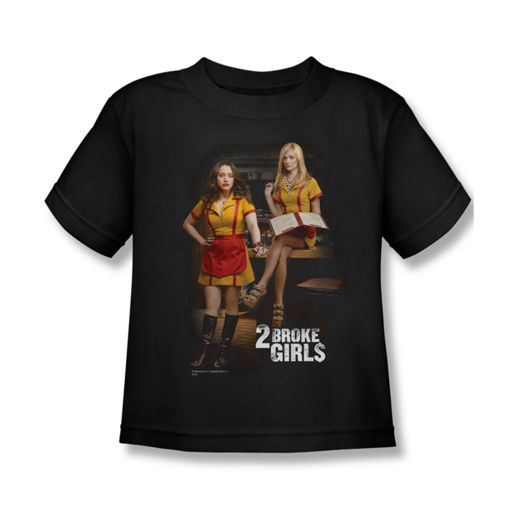 Image of 2 Broke Girls - Juvy Max & Caroline T-Shirt In Black