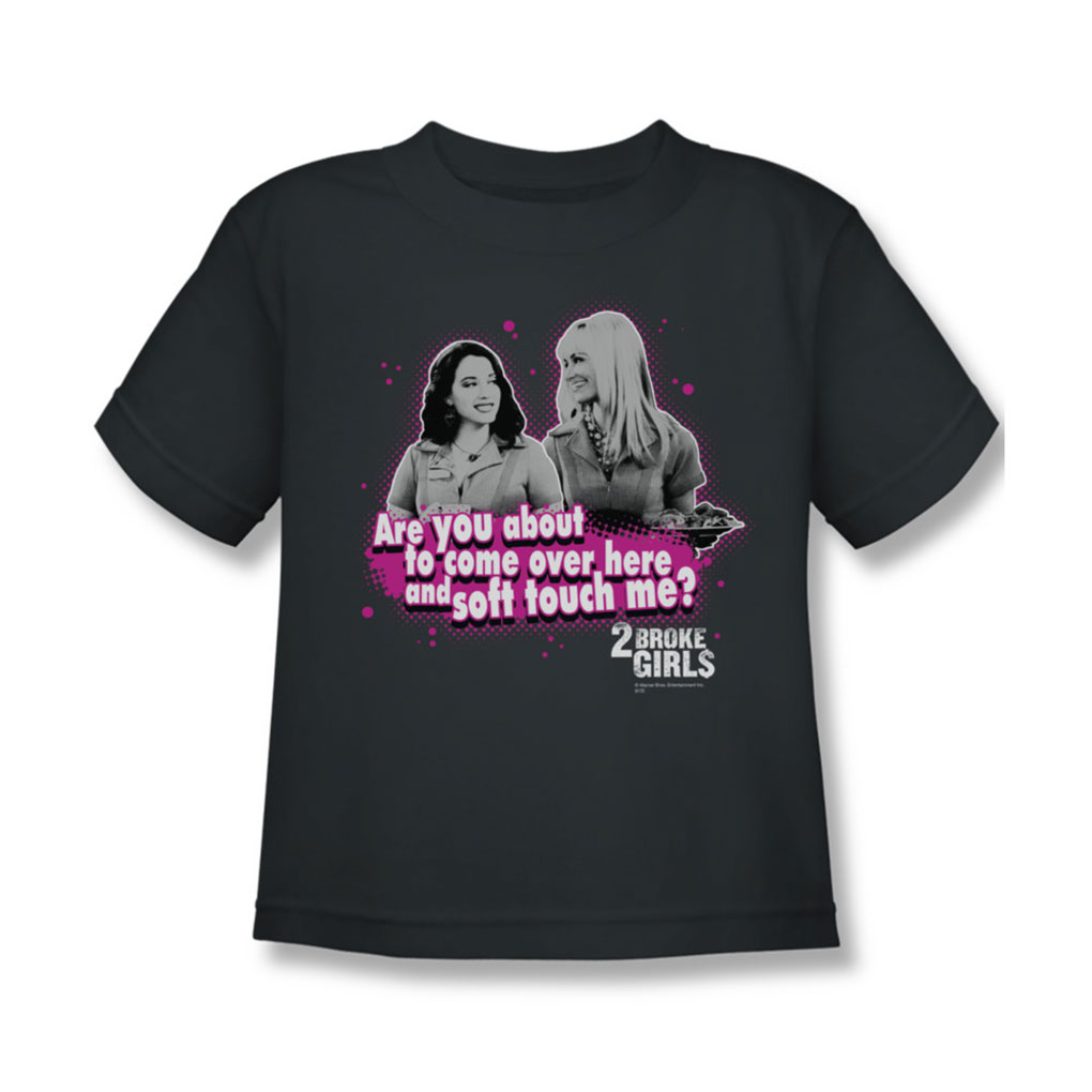 Image of 2 Broke Girls - Juvy Soft Touch T-Shirt In Charcoal