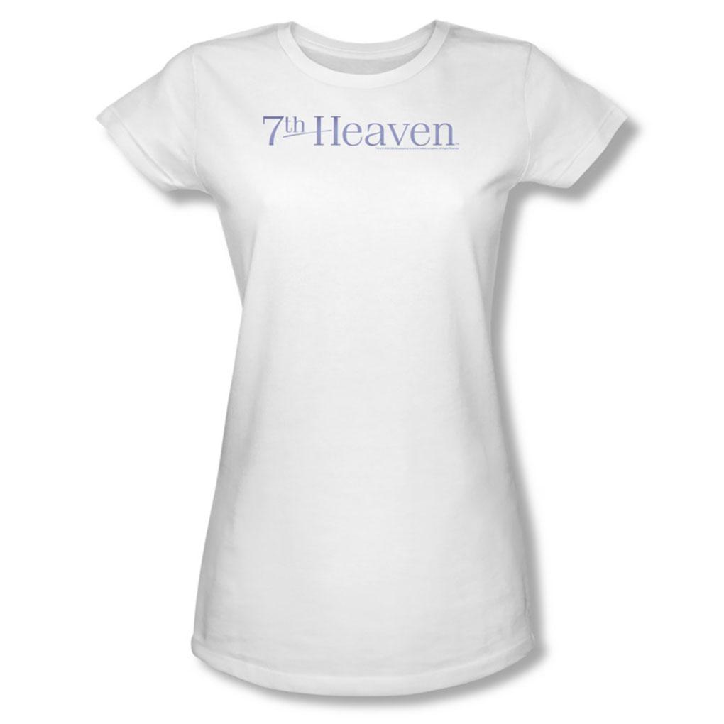 Image of 7Th Heaven - 7Th Heaven Logo - Juniors White S/S T-Shirt For Women