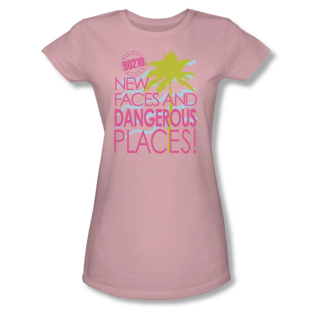 Image of 90210 - Juniors Tagline Sheer T-Shirt