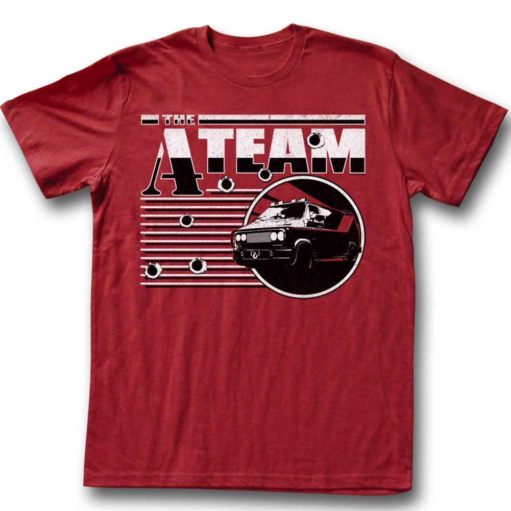 Image of A-Team - Mens Red Dawn T-Shirt