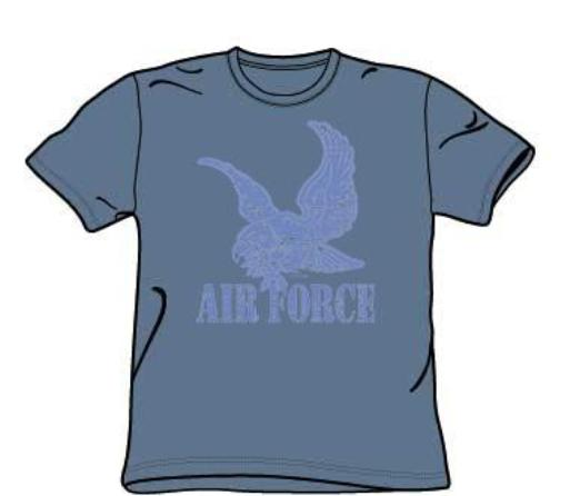 Image of Air Force - Distressed - Adult Slate S/S T-Shirt For Men