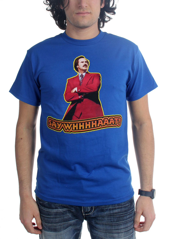 Image of Anchorman - Mens Say Whaaat T-Shirt in Royal Blue