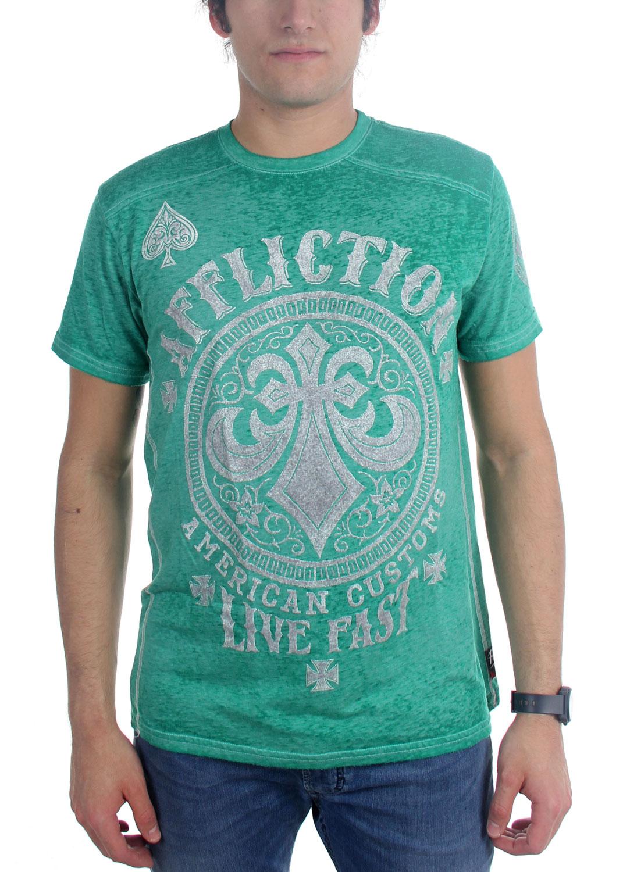 Image of Affliction - Mens Ac Battlefield T-Shirt