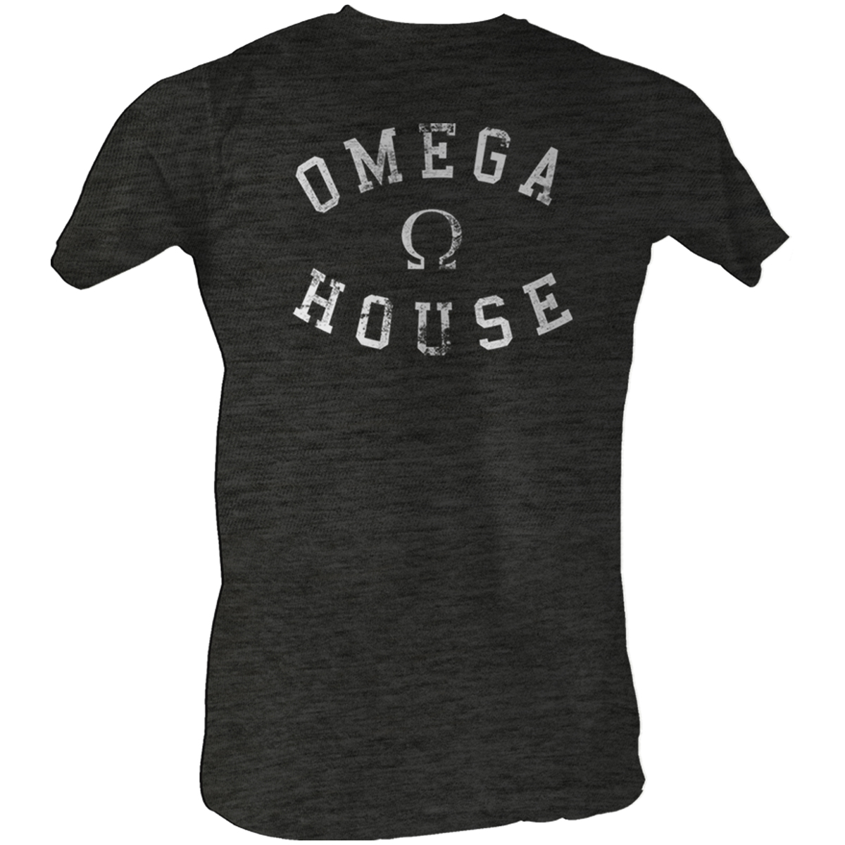 Image of Animal House - Omega House Mens T-Shirt In Charcoal Heather