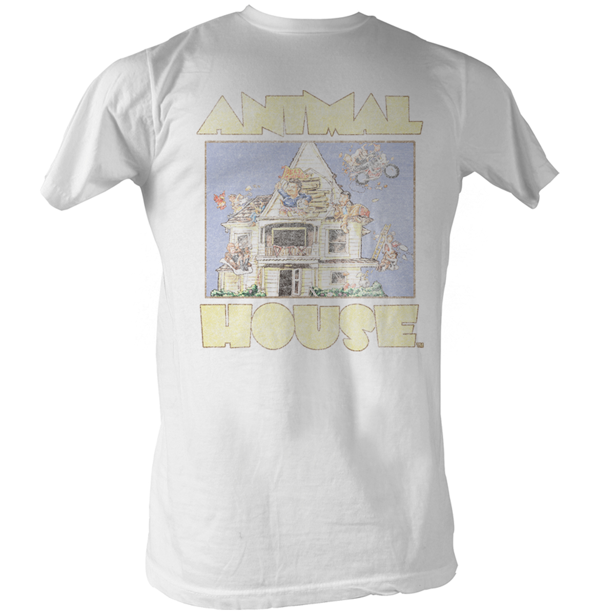 Image of Animal House - Cartoon Mens T-Shirt In White