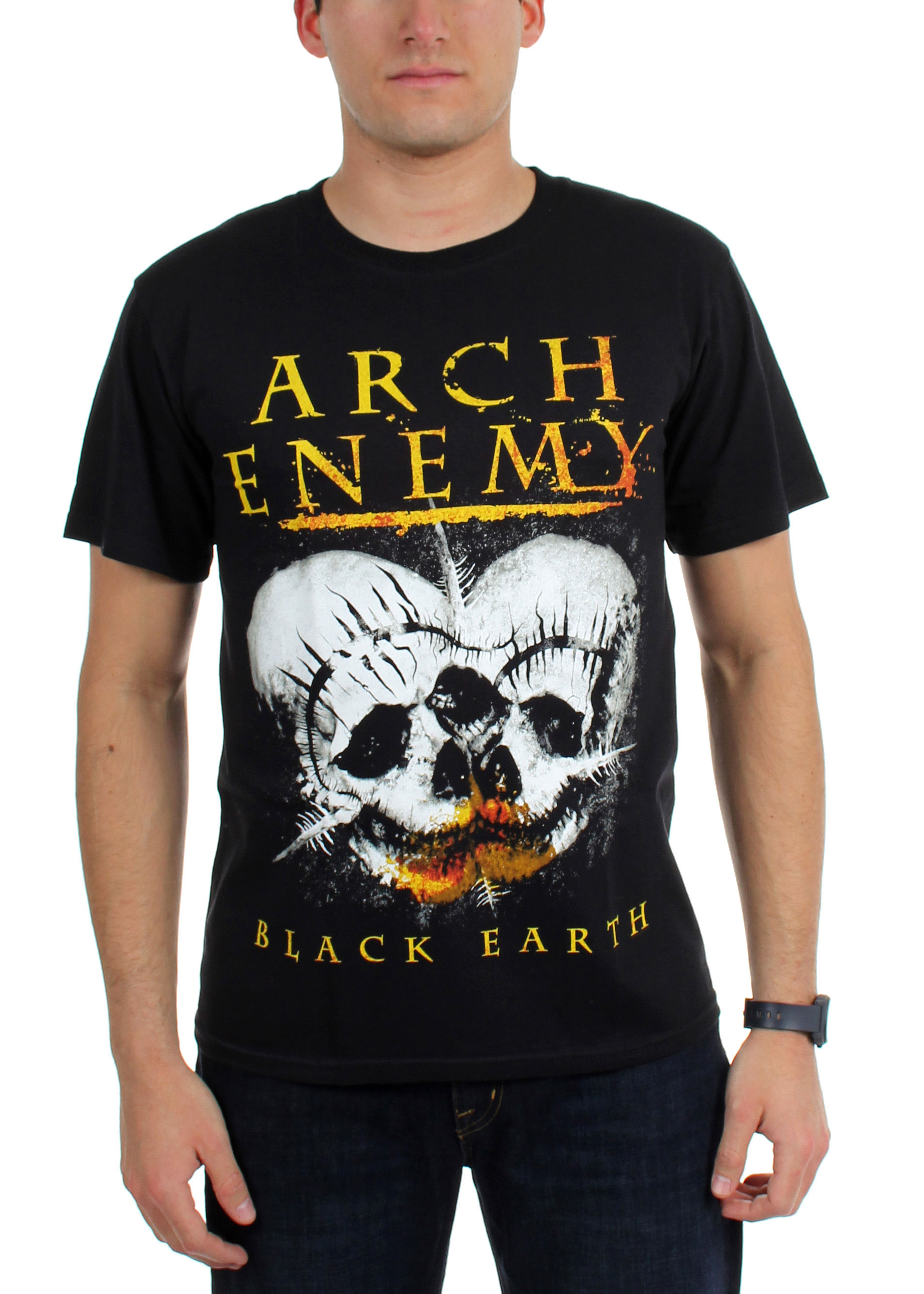 Image of Arch Enemy - Mens Black Earth T-Shirt