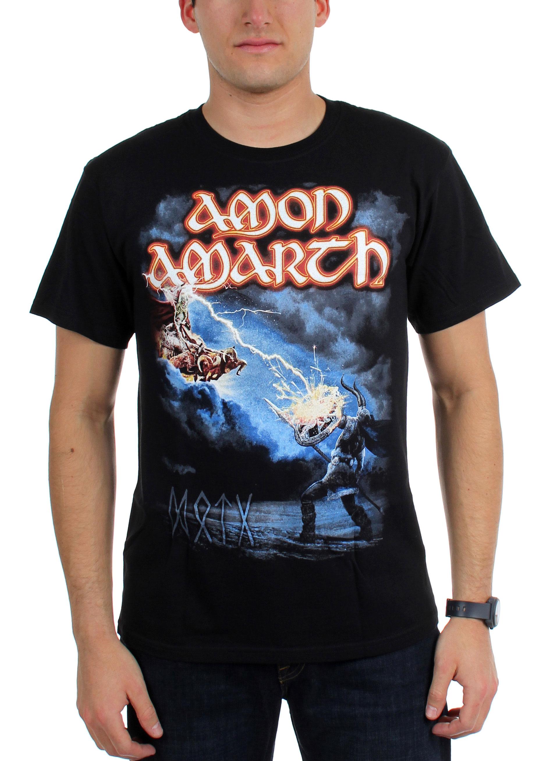 Image of Amon Amarth - Mens Deceiver Of The Gods Tour Dates T-Shirt