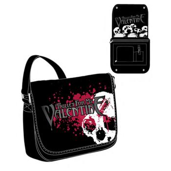 Image of Bullet For My Valentine - Skulls Splatter Messenger Bag In Black