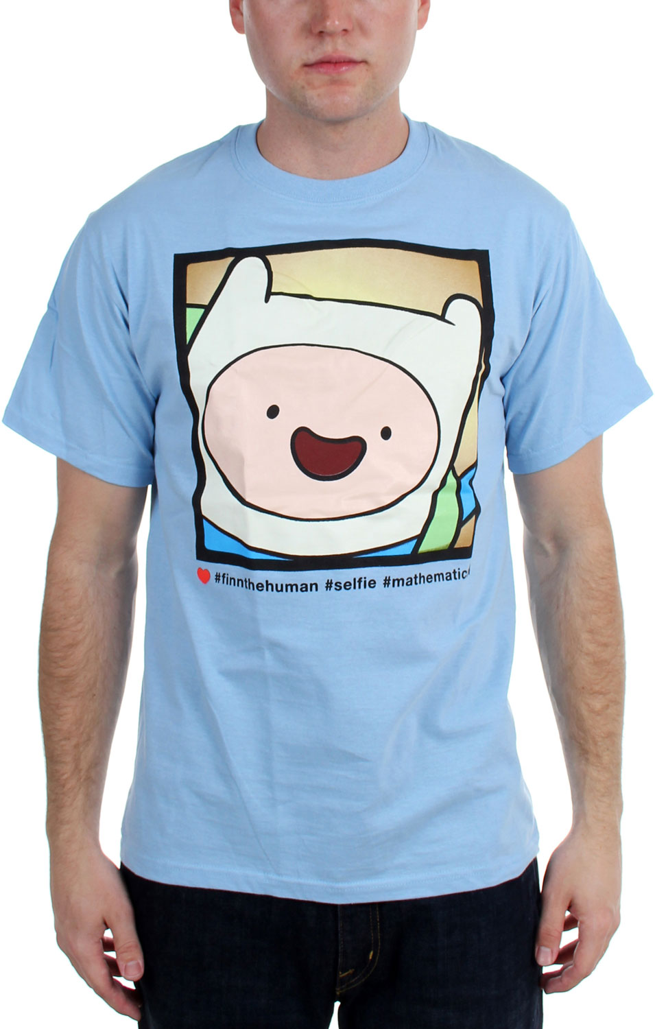 Image of Adventure Time - Mens Happy Finnking Photo T-Shirt