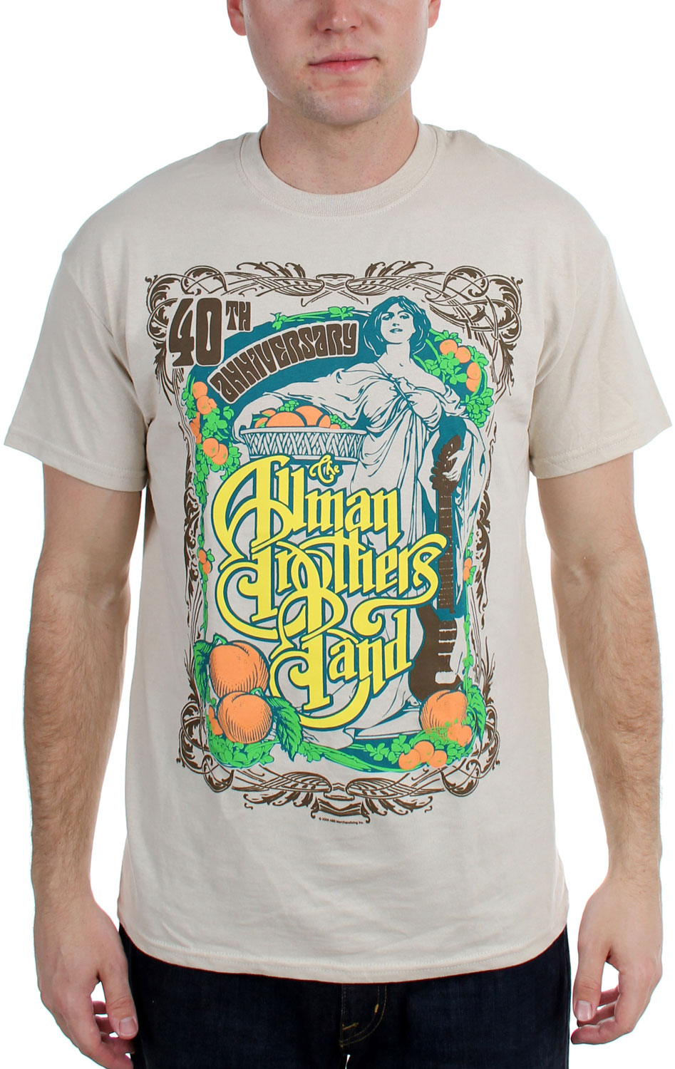 Image of The Allman Brothers Band - Angel Adult T-Shirt in Cobblestone