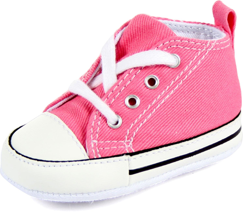converse crib chuck hi shoes in pink