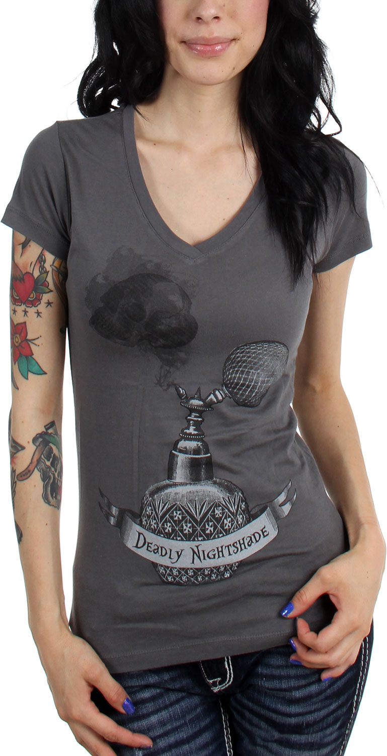 Image of Annex - Womens Deadly Night Shade V-Neck T-Shirt
