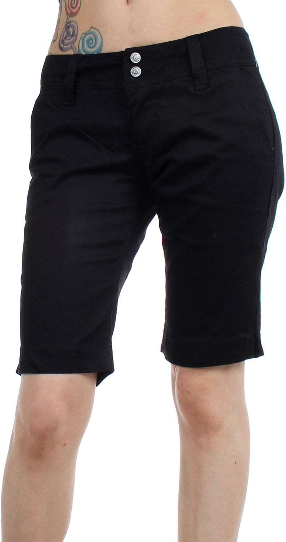Dickies Girl Juniors 11 Inch 4 Pocket Double Button Bermuda Short