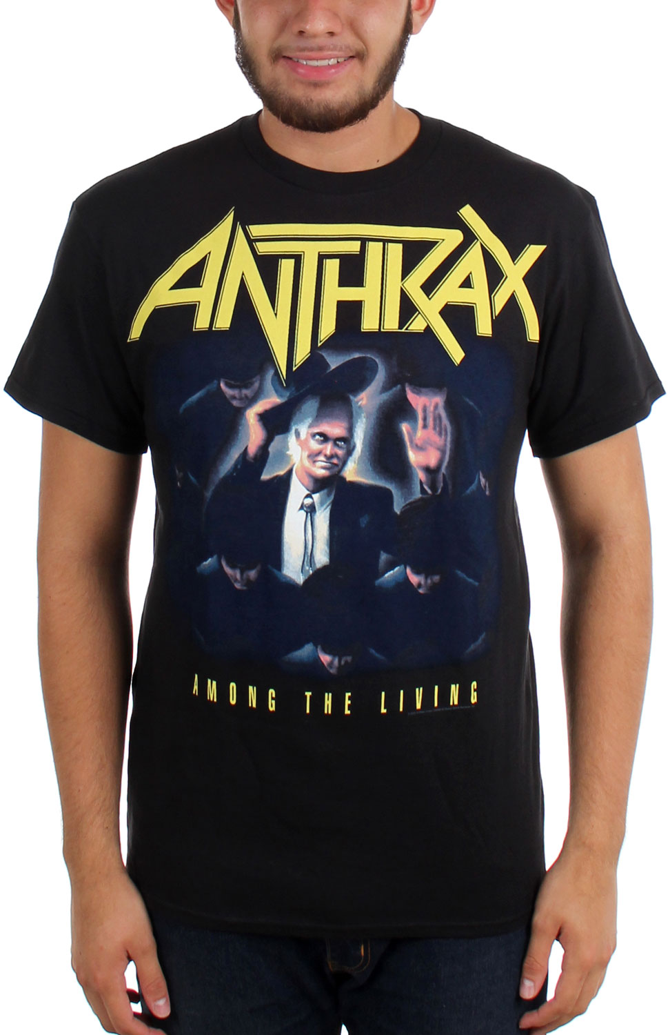 Image of Anthrax - Mens Among the Living T-shirt in Black
