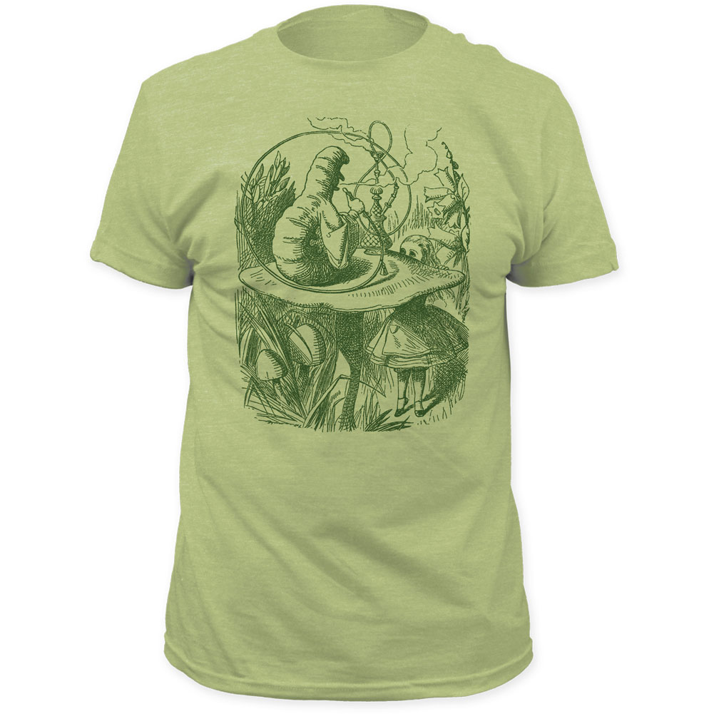 Image of Alices Adventures in Wonderland - Mens Hookah Caterpillar Fitted T-Shirt