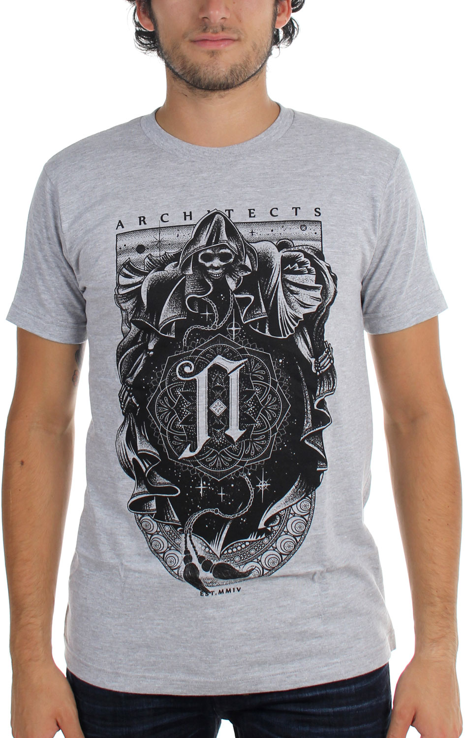 Image of Architects - Mens Reaper Grey T-Shirt