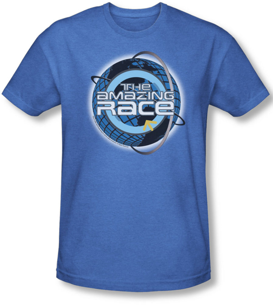 Image of Amazing Race - Mens Around The Globe T-Shirt In Royal