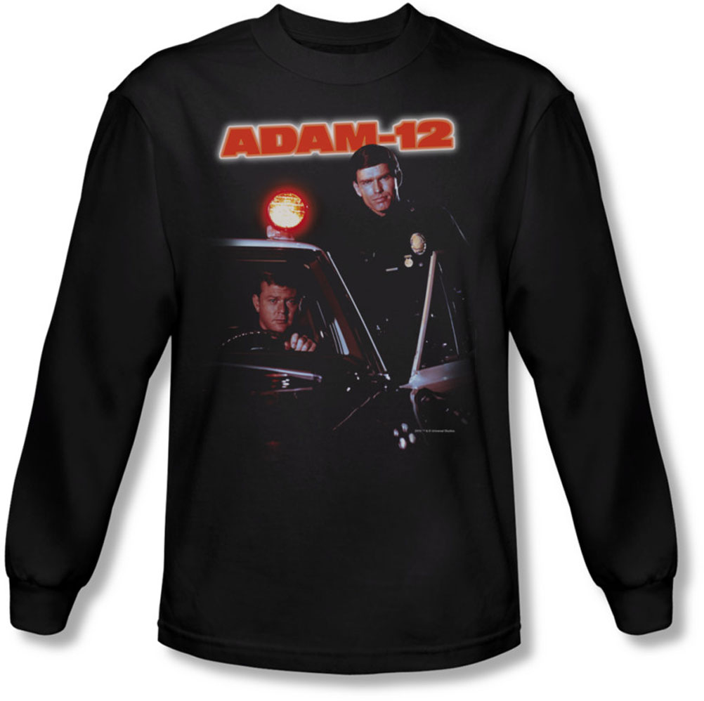Image of Adam 12 - Mens Spotlight Long Sleeve Shirt In Black