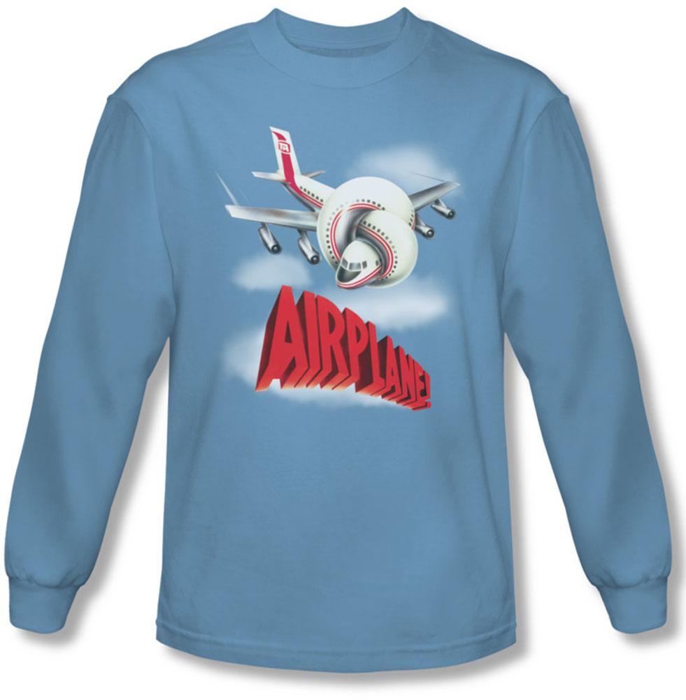 Image of Airplane - Mens Logo Long Sleeve Shirt In Carolina Blue
