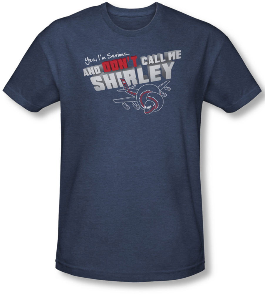 Image of Airplane - Mens Dont Call Me Shirley T-Shirt In Navy
