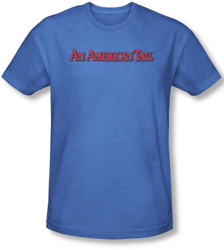 Image of American Tail - Mens Title T-Shirt In Royal