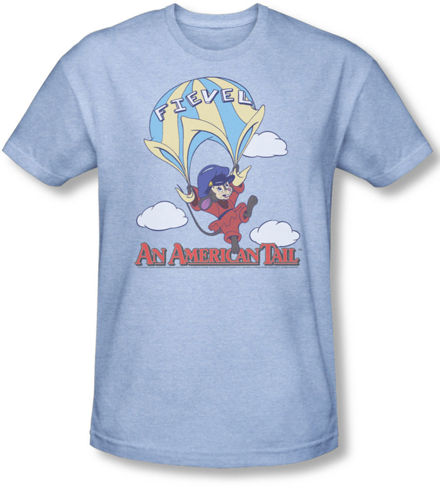 Image of American Tail - Mens Little Adventure T-Shirt In Light Blue