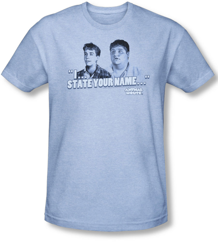 Image of Animal House - Mens Pledges T-Shirt In Light Blue