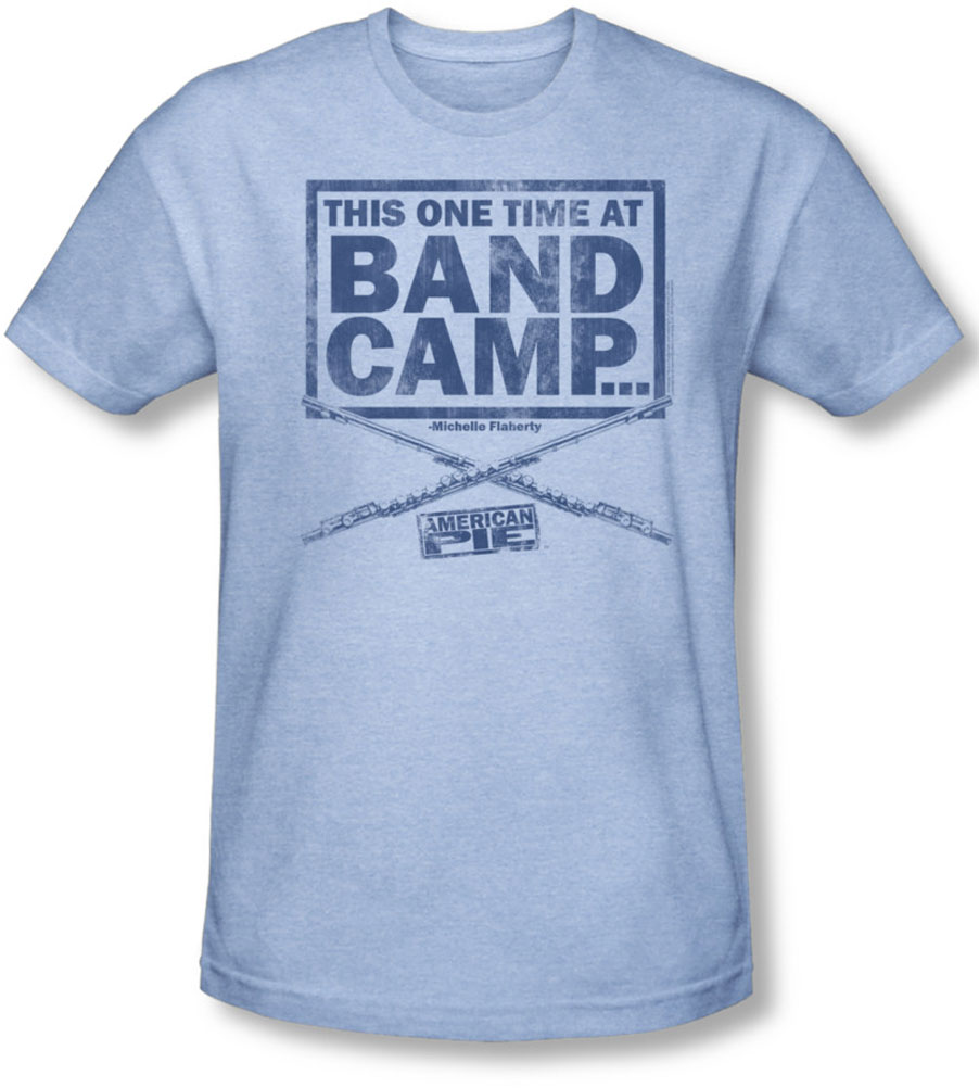 Image of American Pie - Mens Band Camp T-Shirt In Light Blue