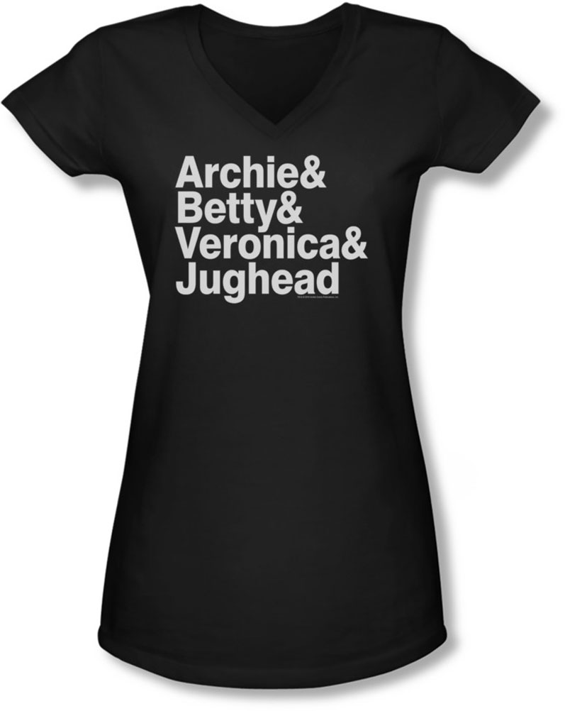 Image of Archie Comics - Juniors Ampersand List V-Neck T-Shirt