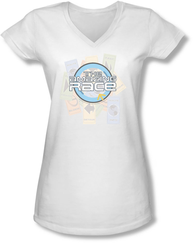 Image of Amazing Race - Juniors The Race V-Neck T-Shirt