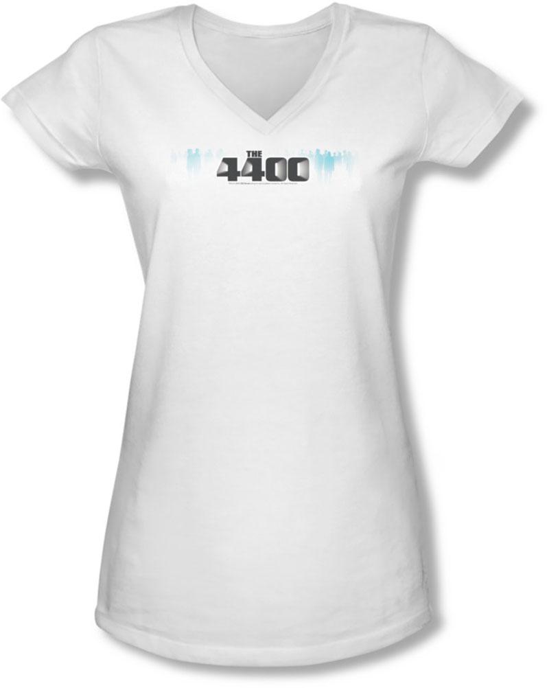 Image of 4400 - Juniors The 4400 Logo V-Neck T-Shirt
