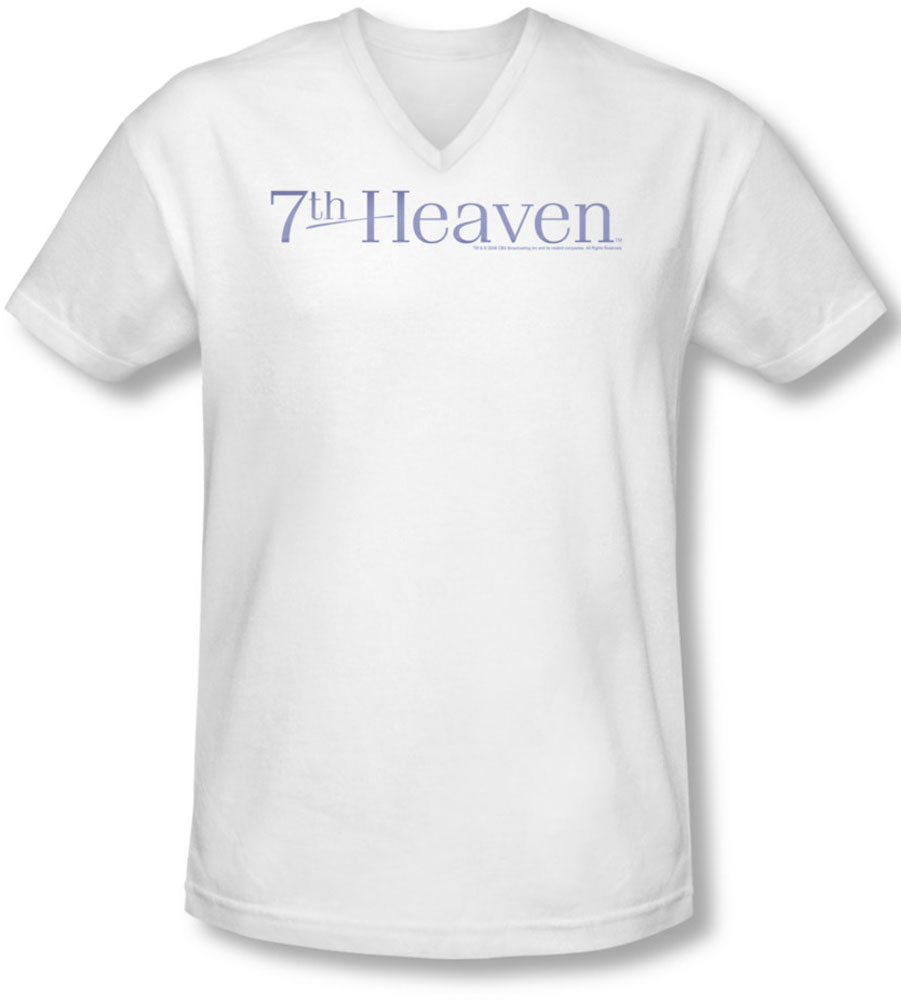 Image of 7Th Heaven - Mens 7Th Heaven Logo V-Neck T-Shirt