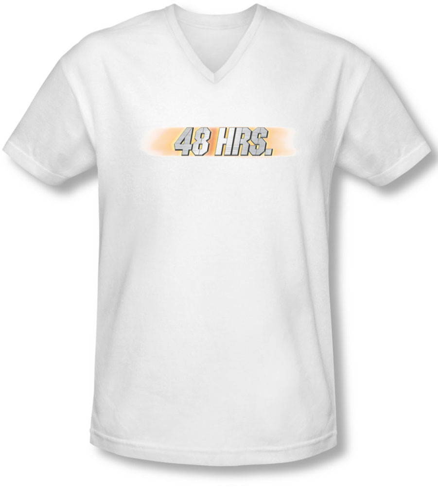 Image of 48 Hours - Mens Logo V-Neck T-Shirt
