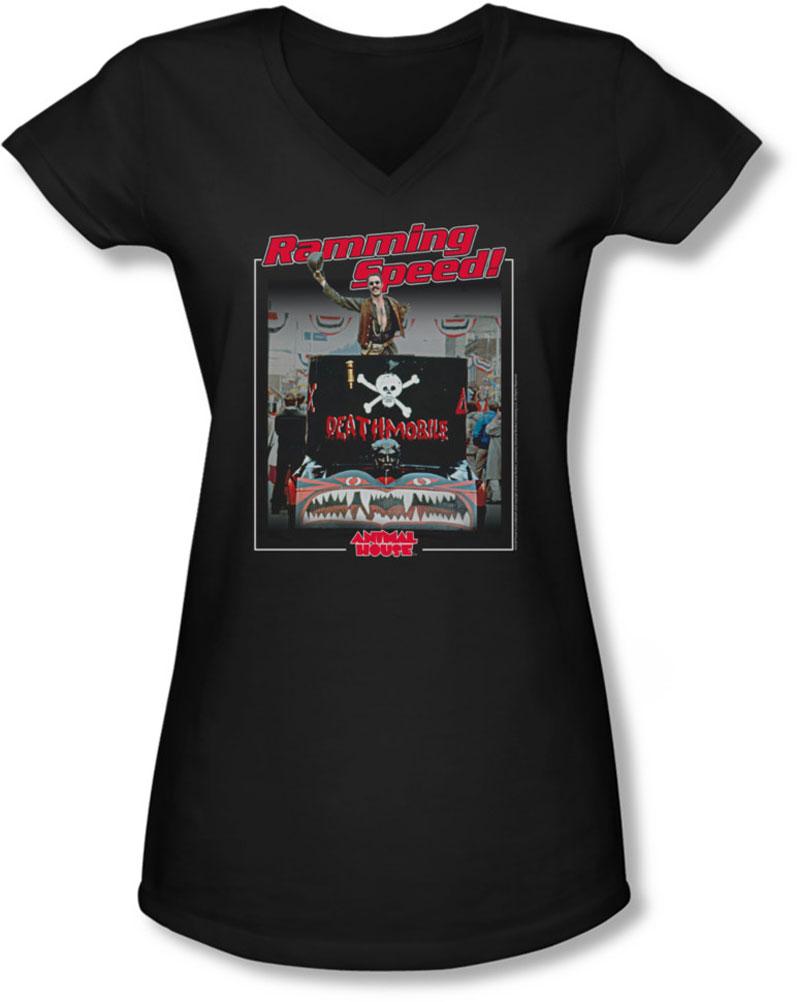 Image of Animal House - Juniors Ramming Speed V-Neck T-Shirt
