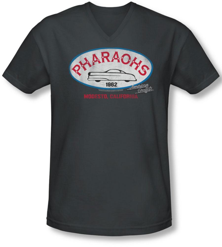 Image of American Graffiti - Mens Pharaohs V-Neck T-Shirt