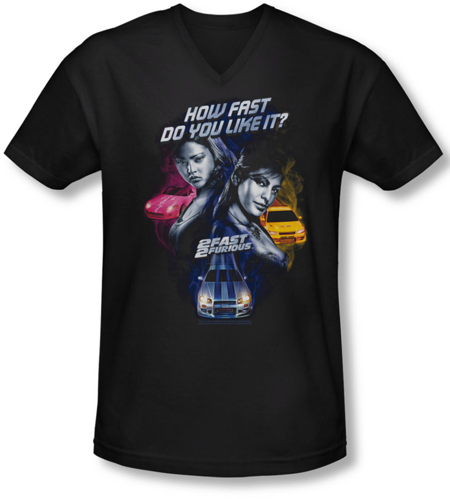 Image of 2 Fast 2 Furious - Mens Fast Women V-Neck T-Shirt