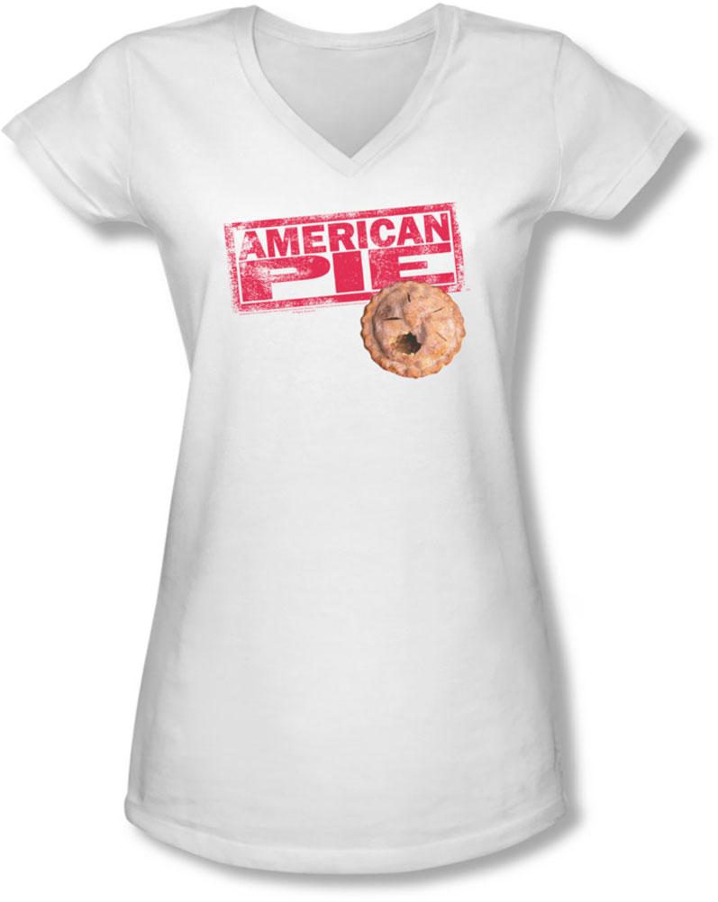 Image of American Pie - Juniors Pie Logo V-Neck T-Shirt