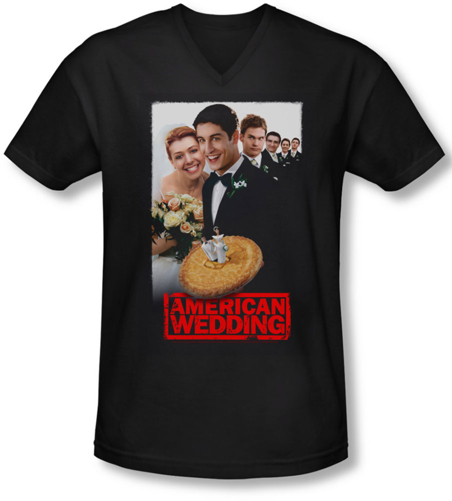 Image of American Wedding - Mens Poster V-Neck T-Shirt