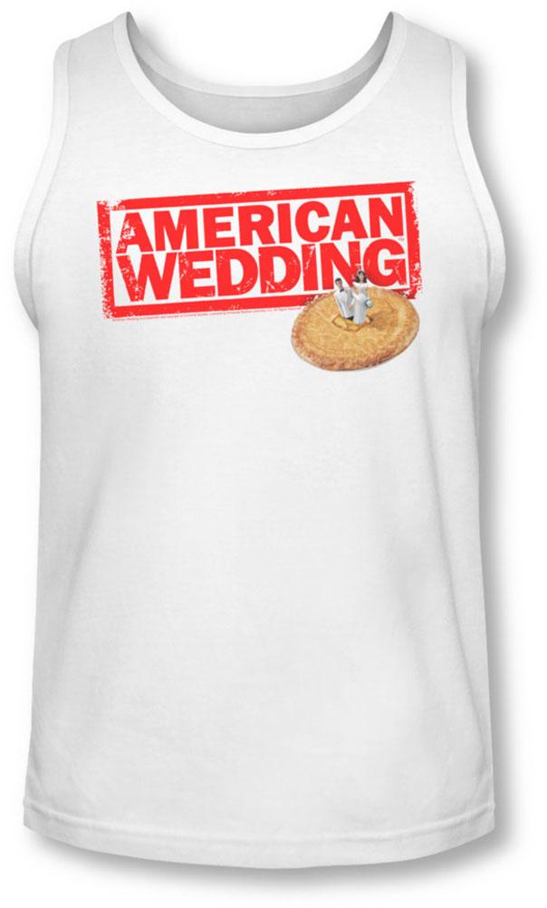 Image of American Wedding - Mens Wedding Logo Tank-Top